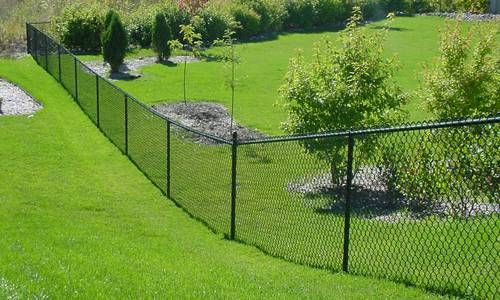 Vinyl Chain Link Fence 01 In 2019 Black Chain Link Fence