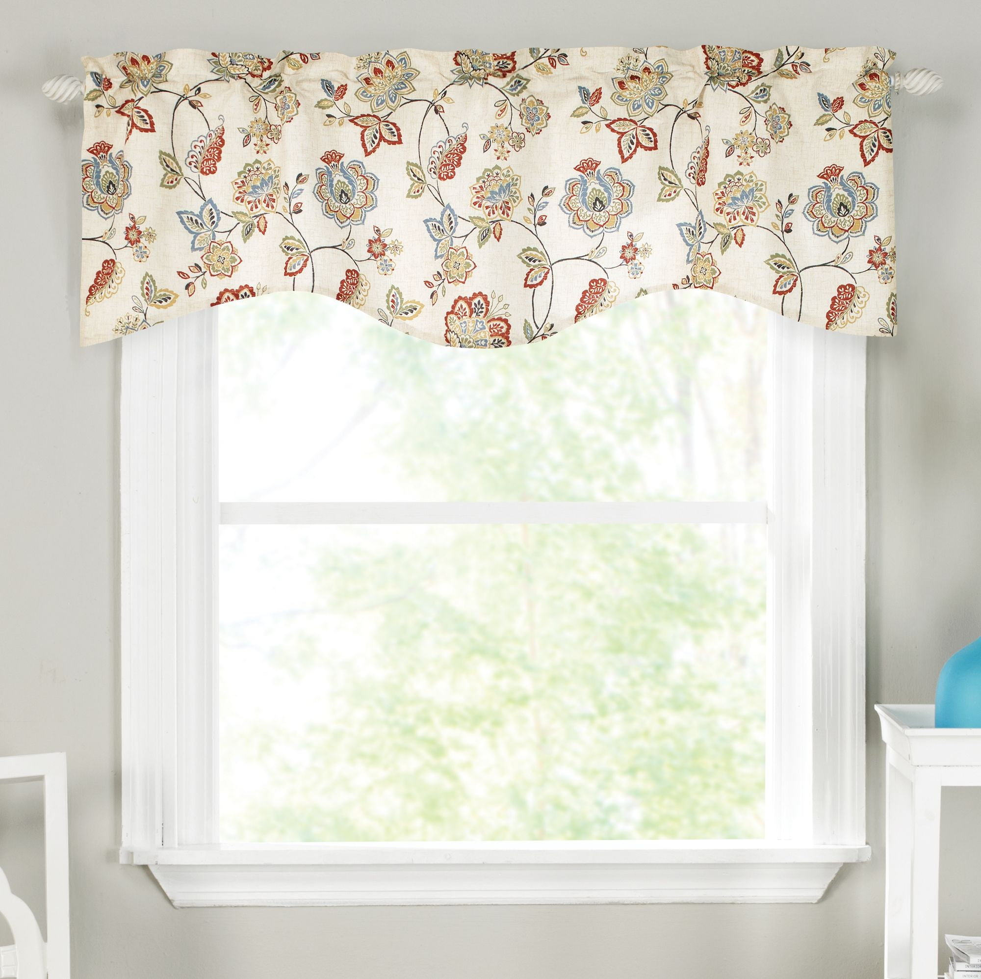 Colette Lined Scallop Valance Curtain Curtain Bath Outlet