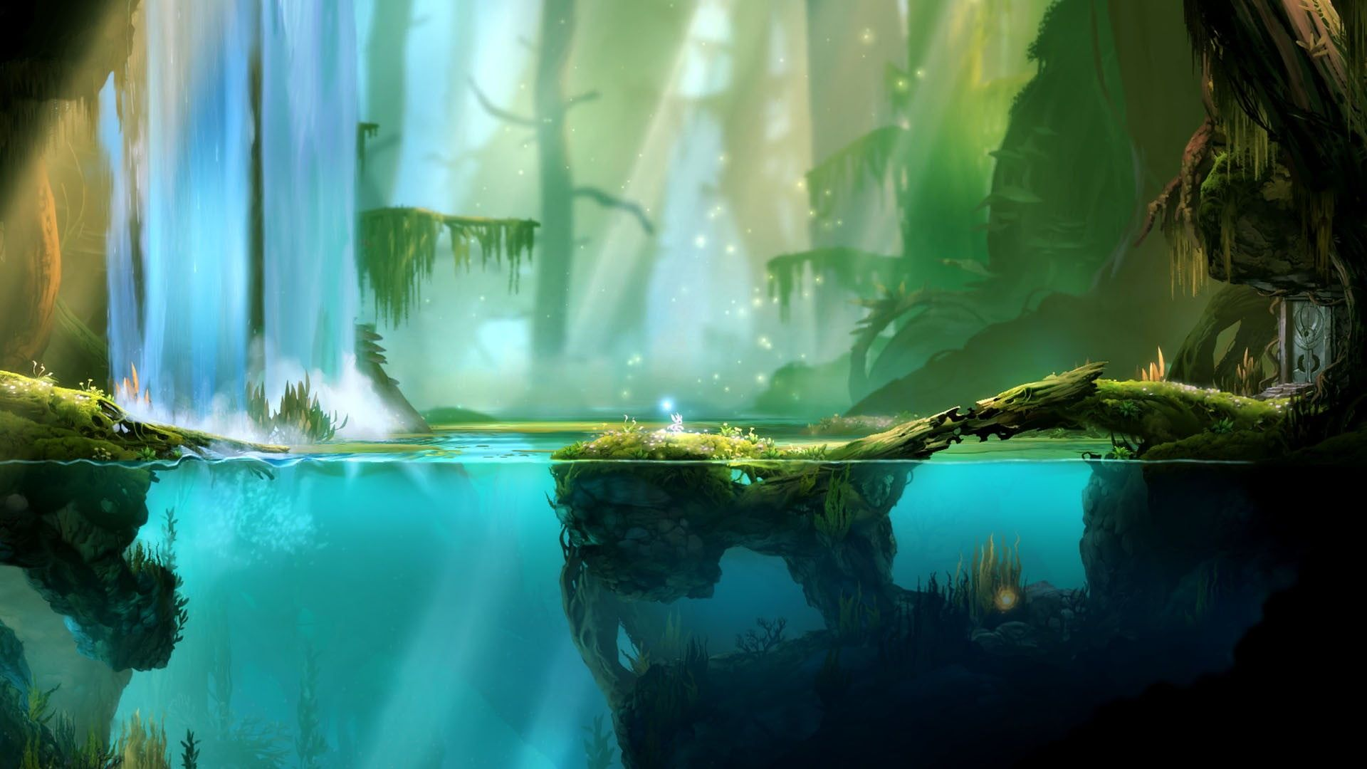 Forest Wallpaper Forest And Body Of Water During Daytime Illustration Digital Art Video Games Water Trees Underwat In 2020 Game Concept Art Forest Art Forest Games