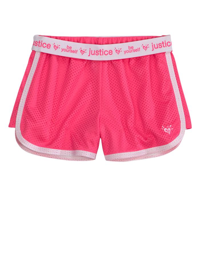 NWT Justice Girls Neon Pink /& Black Zebra Mesh Athletic Shorts 16 NEW