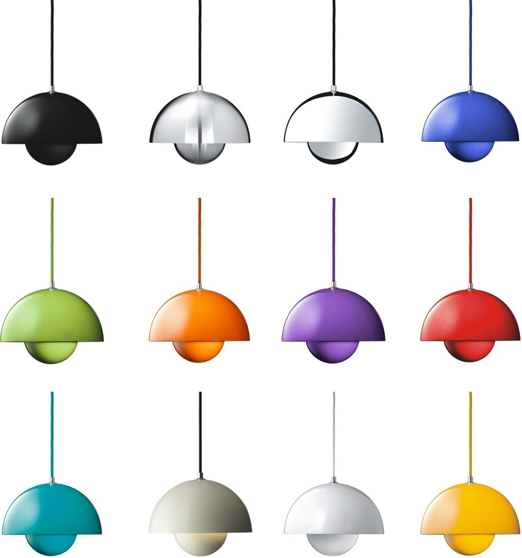 Flowerpot Pendant Lamp Tradition: The Flowerpot Suspension Lamp By Designer  Verner Panton For Tradition In The Verner Panton Online Shop.