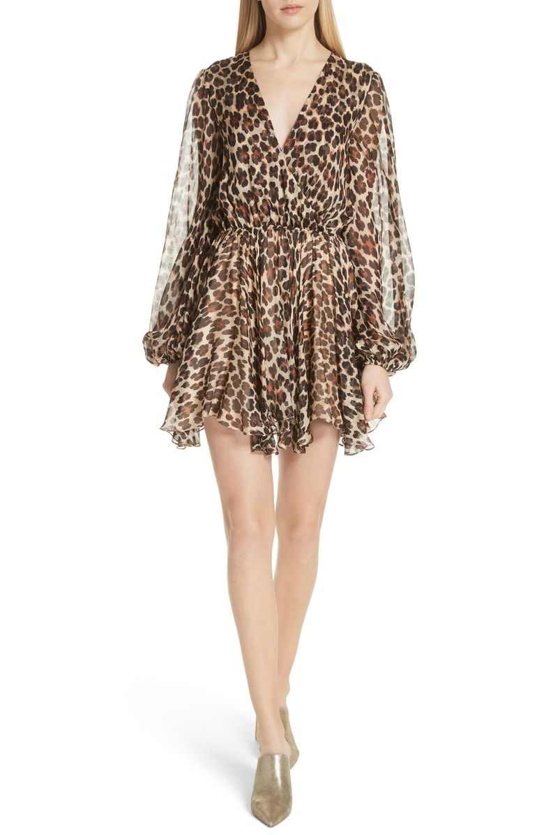 Free shipping and returns on Caroline Constas Olena Silk Dress at  Nordstrom.com. Leopard spots add feisty feline allure to a diaphanous  Italian-silk ... 8a79ac9a88e1