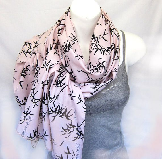 Soft Soft Pale PinkNecklace Scarf Cotton Gauze and by TrendyFabric,