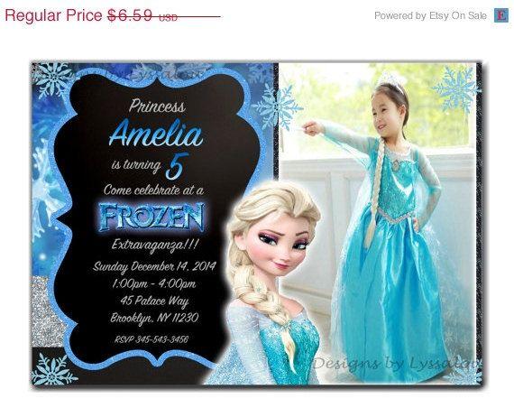 On SALE Frozen Birthday Invitation Frozen by DesignsbyLyssaLou