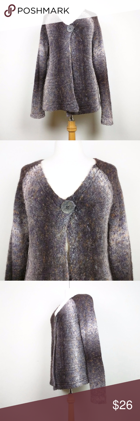 Talbots Brown Ombre Knit Cardigan Sweater | Orange ombre, Talbots ...