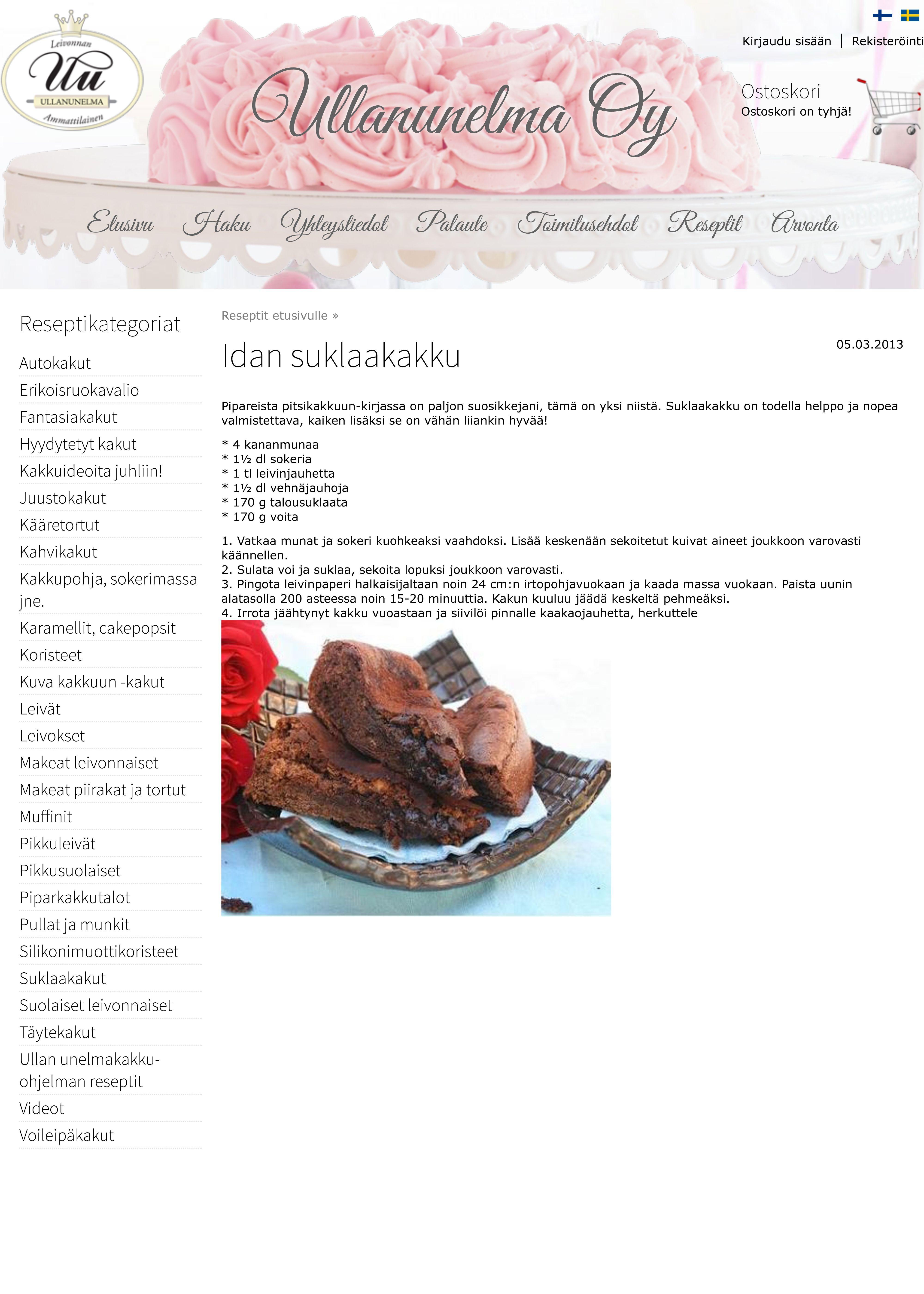 Hyvä suklaakakku