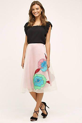 Casablanca Silk Skirt