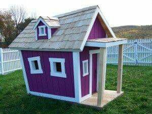 Purple Mini House Play Houses Luxury Playhouses Crooked House