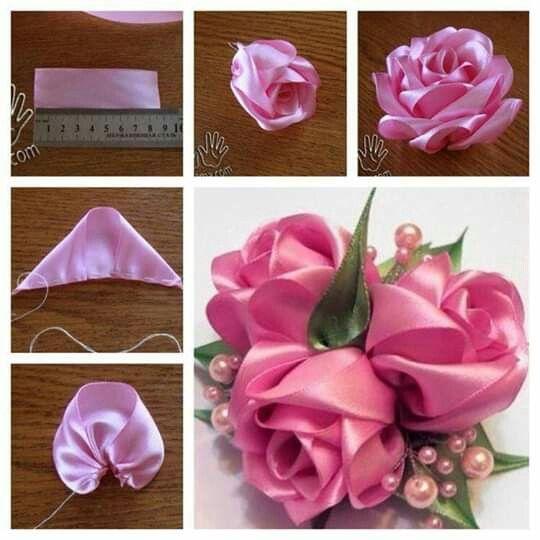 W Salvabrani Salvabrani Ribbon Flower Tutorial Fabric Flowers Diy Fabric Flower Tutorial