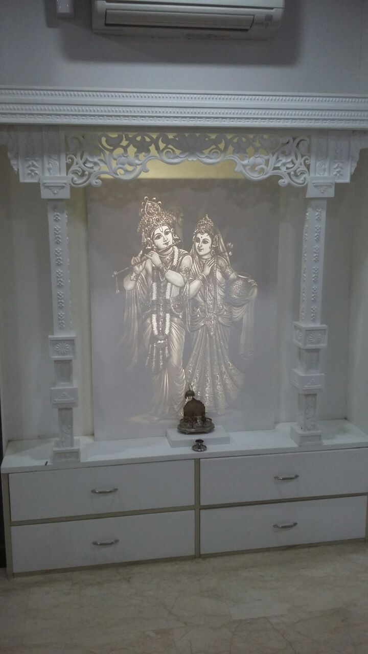 Acrylic solid surface mandir also corian stone in pooja room design rh pinterest