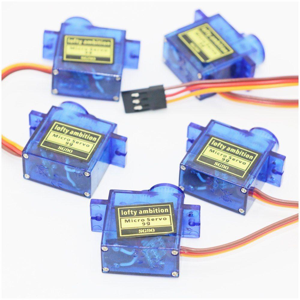 5pcs/lot SG90 9g Mini Micro Servo for RC for RC 250 450