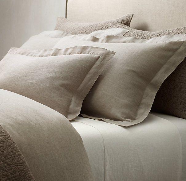 Vintage Washed Belgian Linen Sheet Set Belgian Linen Bedding Belgian Linen Sheets Linen Bedding