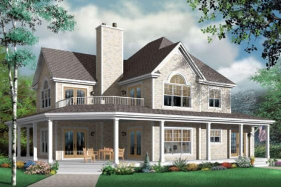 House Plan 23-383. Gorgeous house set up