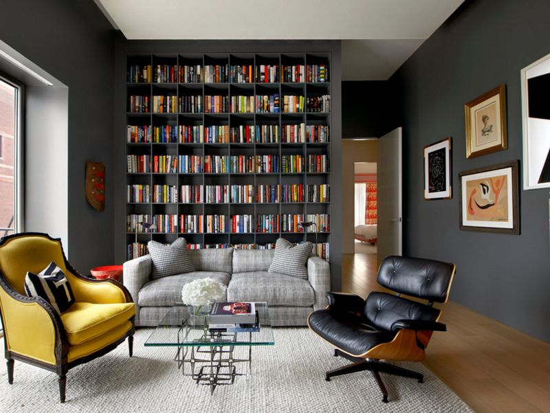 22 Interesting Ways to Add Bookshelves in the Living Room | Living ...