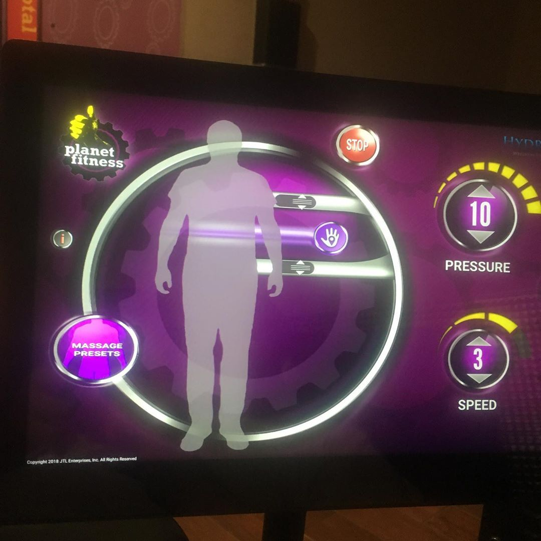 Best part of every workout at #planetfitness when I am done for the day. This new location has t...