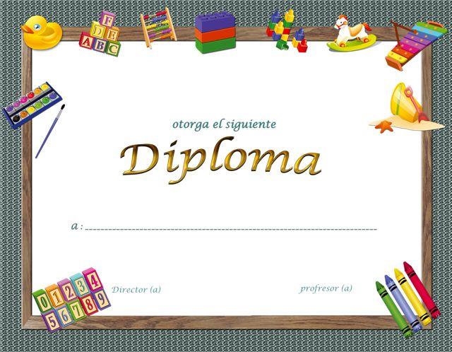 Plantillas de diplomas infantiles gratis - Imagui Jardín de