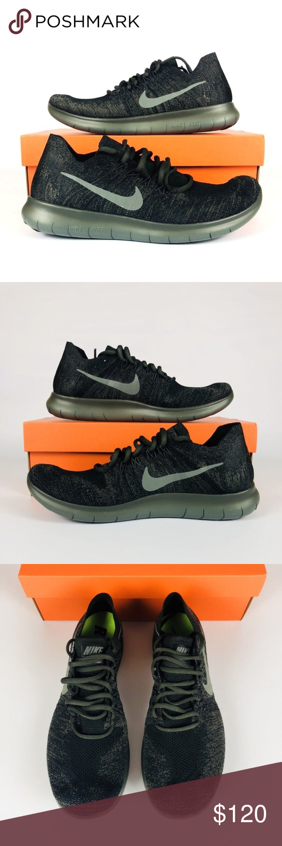9a694f5b78392 Nike Free RN Flyknit 2017 Nike Free RN Flyknit 2017 Black River Rock Grey  880843-012 Men s Running Shoes New With Box Shipped Double Boxed Nike Shoes  ...