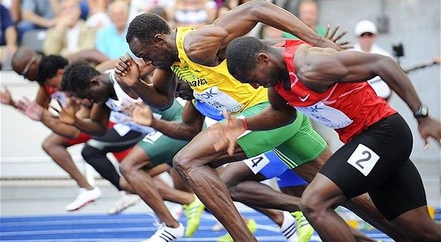 Bolt start running! :)) amazing 100 mt race!