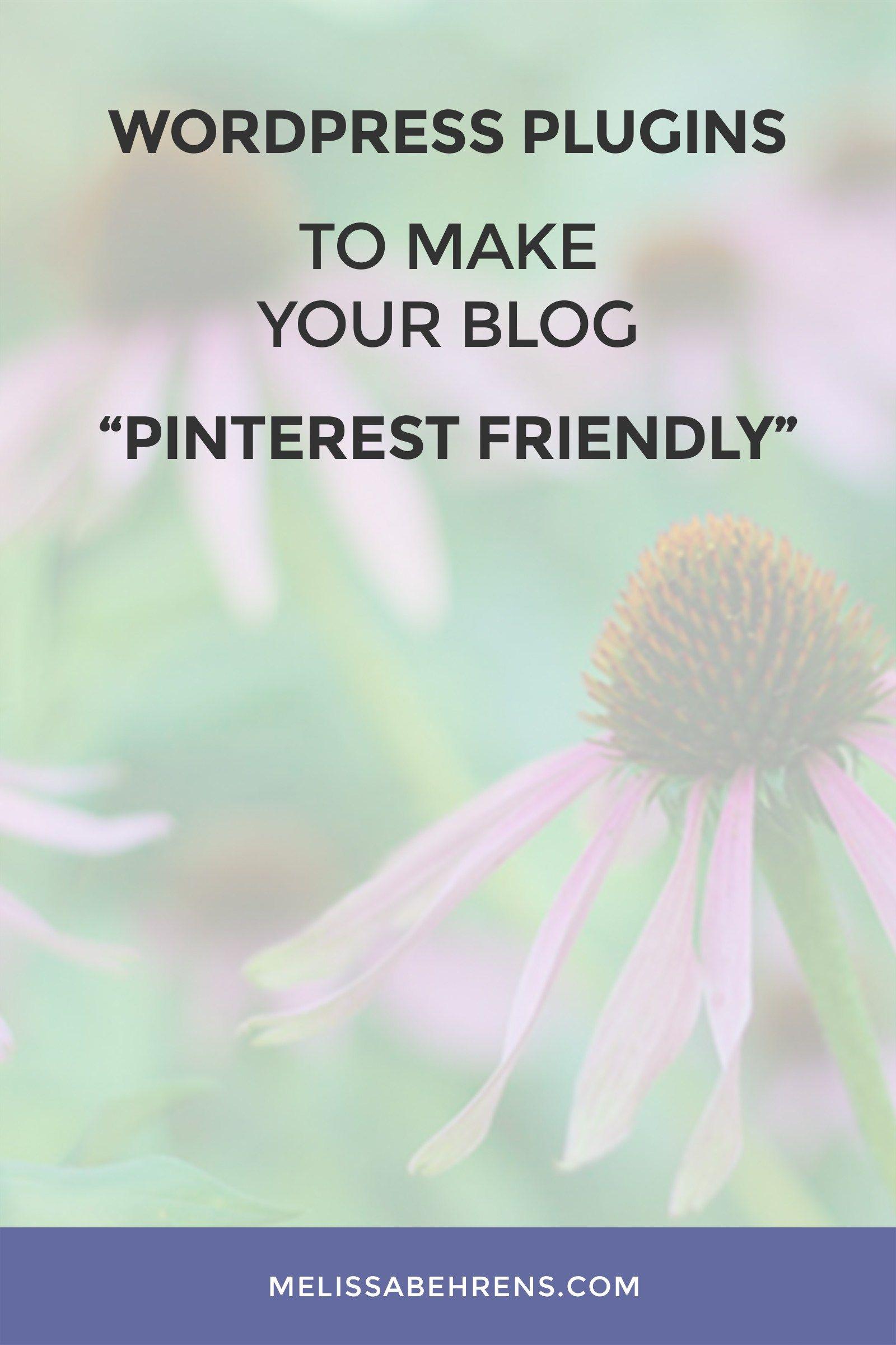 Wordpress Plugins to Make Your Blog Pinterest Friendly