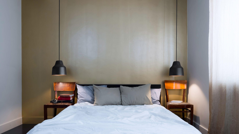 Pendant Light Black Over A Nightstand Master Bedroom Lighting