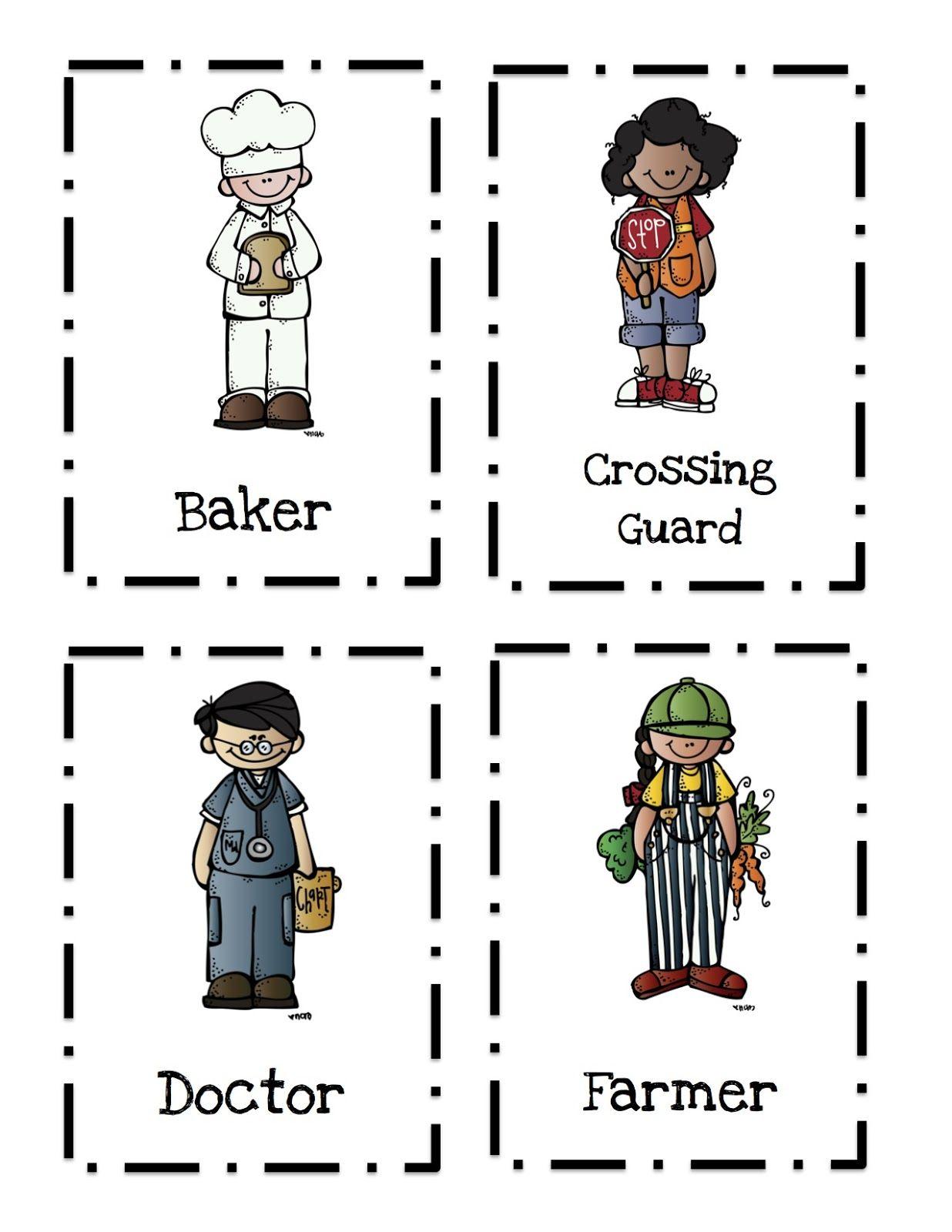 preschool printables community helpers profesiones pinterest
