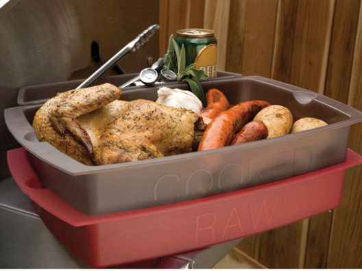 grill station bins for food safety one for raw marinating and