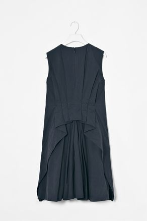 dress with pleated back, cos