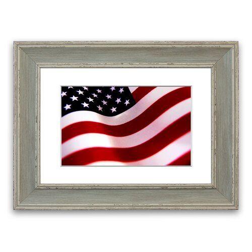 East Urban Home Gerahmtes Poster Amerikanische Flagge | Wayfair.de