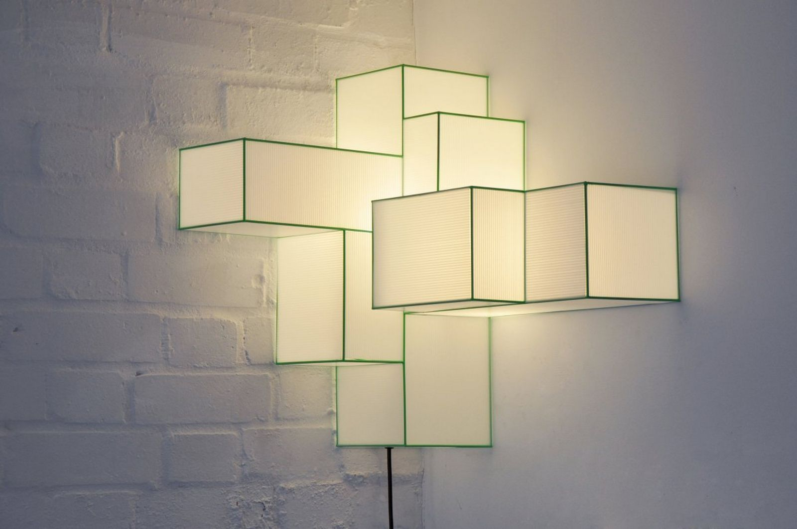 Lighting Modern Exterior Wall Lights With Green LED Wall Sconces ...