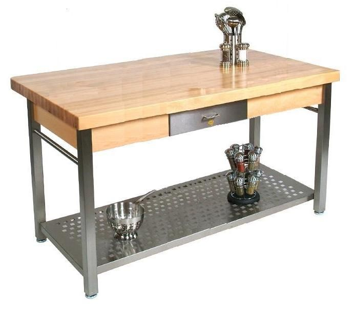 John Boos Butcher Block Table Cucina Grande 36 X 60 X 2 1 4 With 8 Drop Leaf And Stainless Steel Base Cucg11 Butcher Block Kitchen Metal Kitchen Island Butcher Block Island Kitchen John boos butcher block table