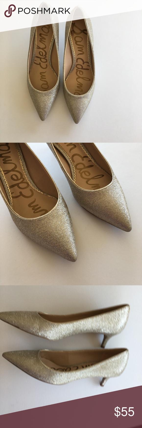 Sam Edelman Dori Kitten Heel Lt Gold Mesh 10 5 M Shoes Women Heels Sam Edelman Shoes Kitten Heels