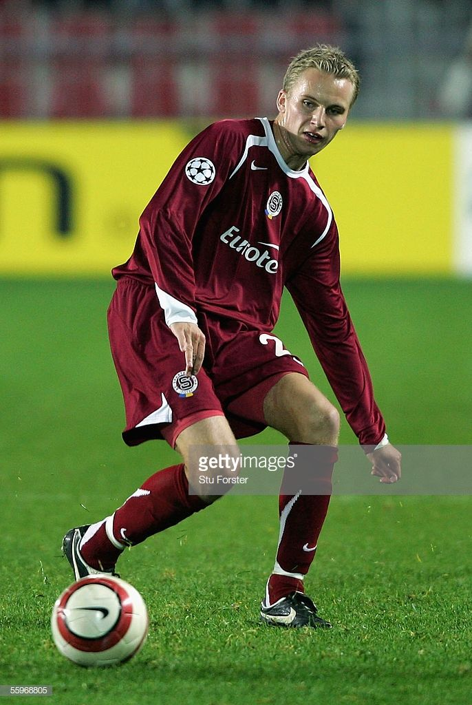 Michal Kadlec of Sparta Prague on the ball during the UEFA