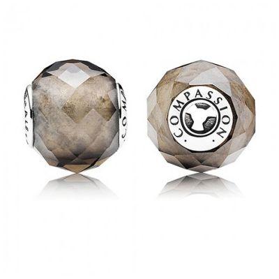 Pandora Essence silver and Smoky Quartz Charms | Pandora essence ...