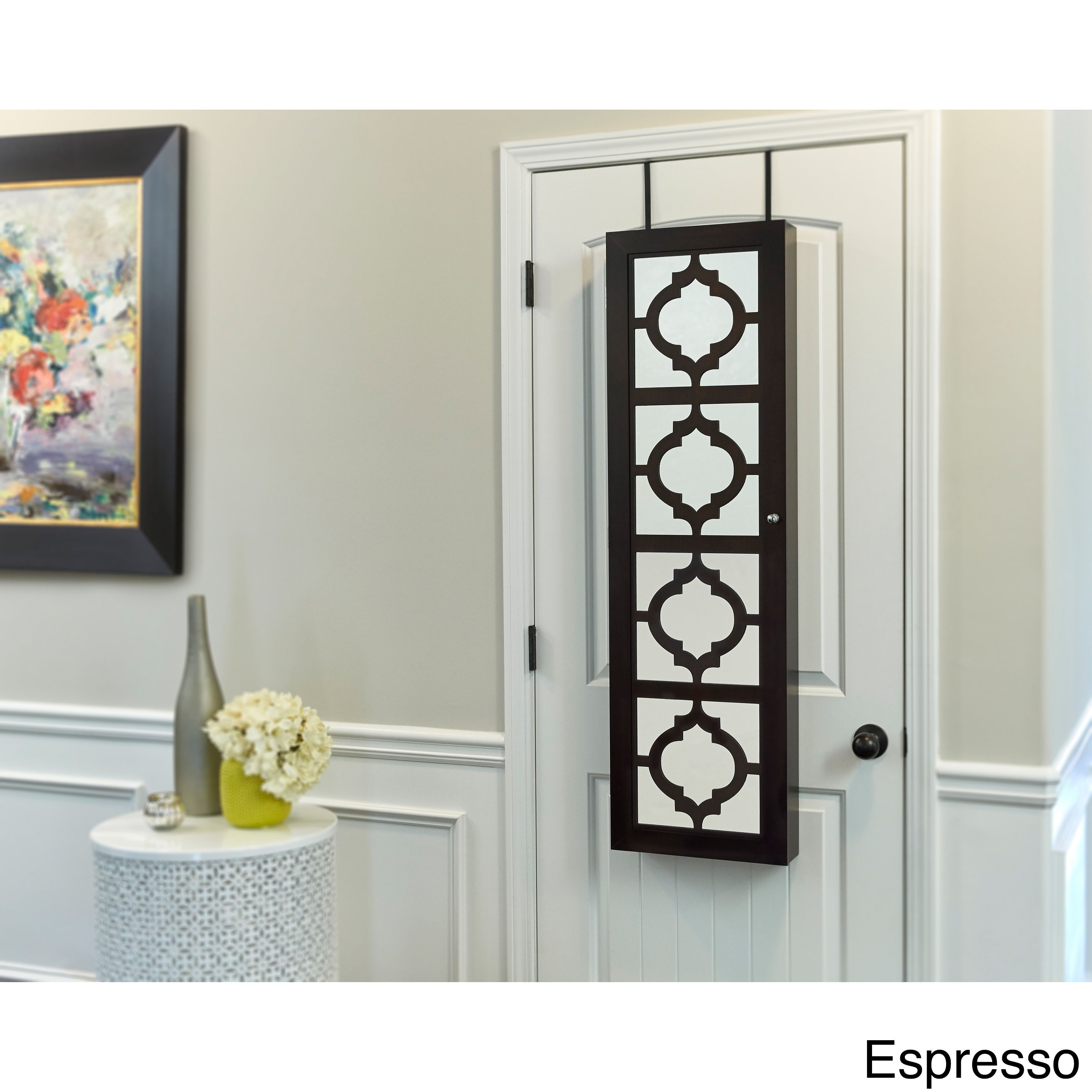 Genial InnerSpace Wall Hang Jewelry Armoire With Decorative Mirrored Front