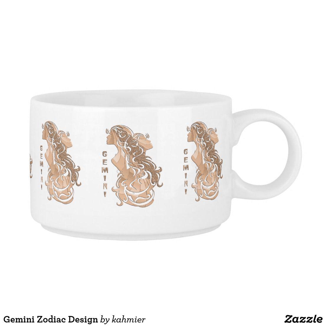 Gemini Zodiac Design Bowl #horoscope