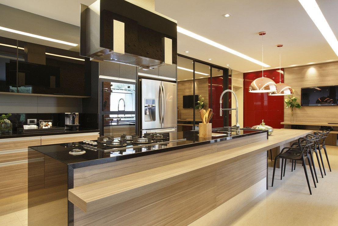 Cozinha Gourmet Cozinhas Modernas Por Arquitetura E Interior