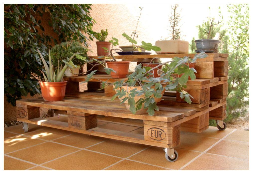 Jardinera de palets ecodeco mobiliario ideas palets for Jardineras para interiores