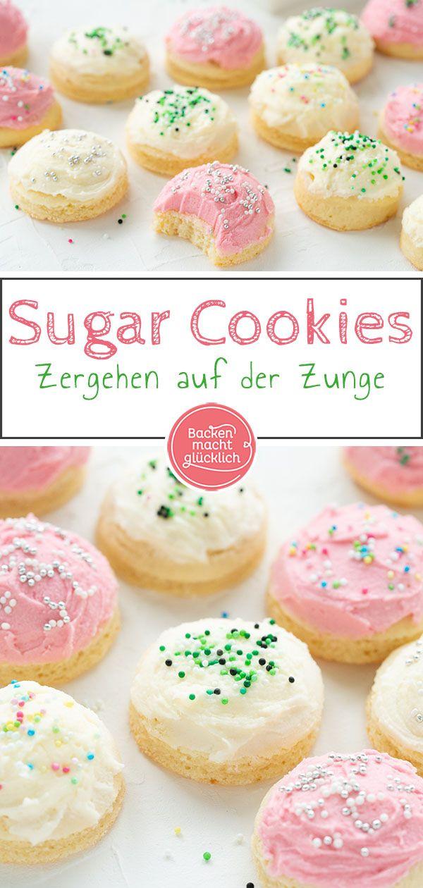 Sugar Cookies: Amerikanische Plätzchen mit Frosting