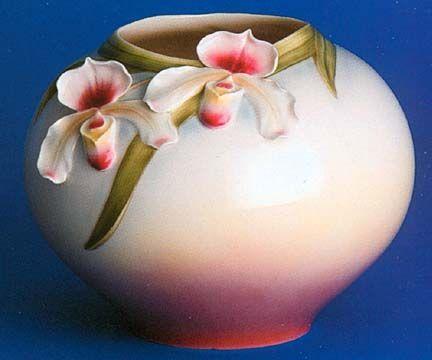 Franz Porcelain Slipper Orchid