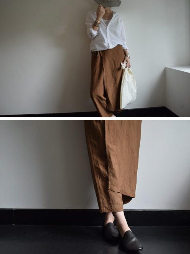2739665c359dc Plus Size Vintage Women Cotton Palazzo Hippie Pants