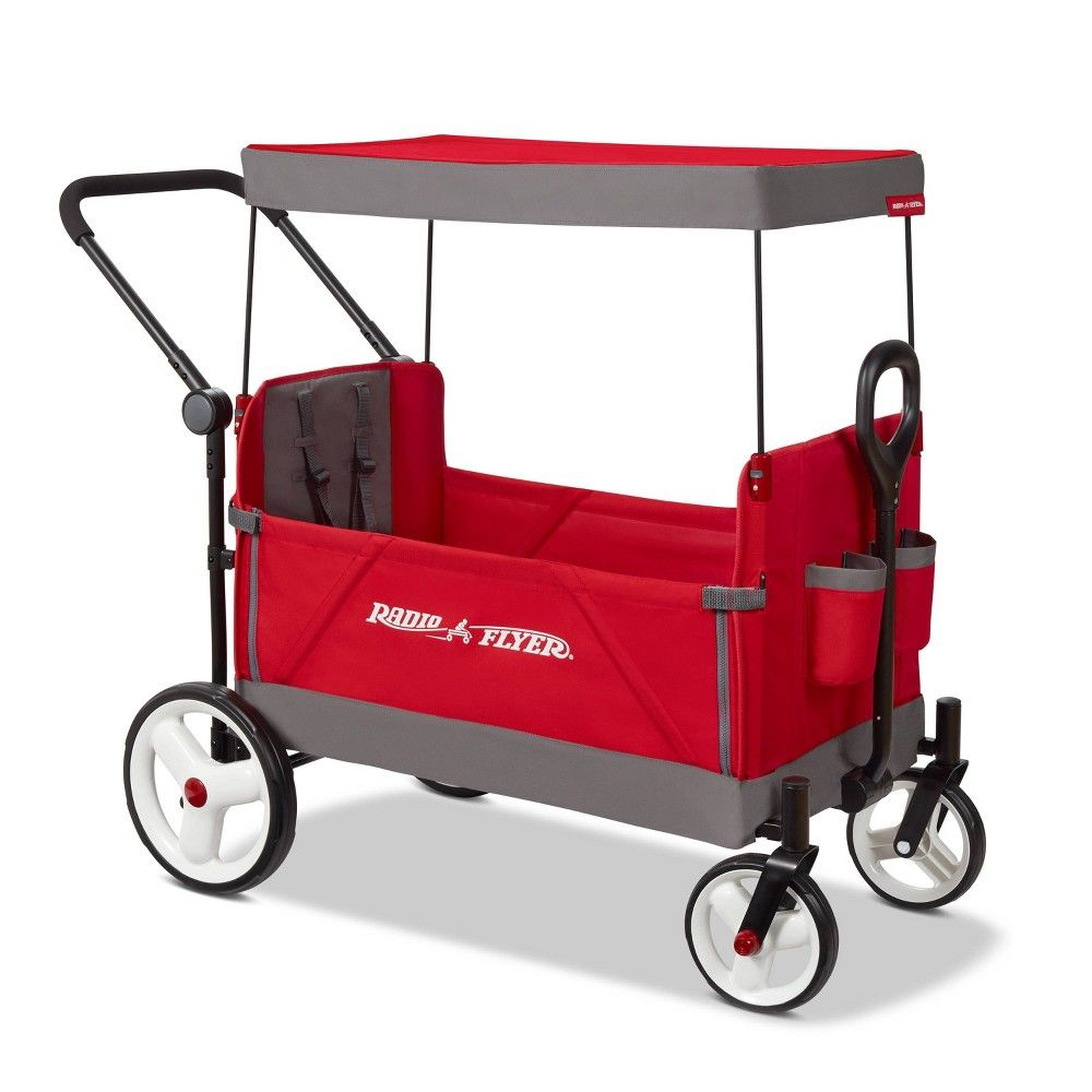 Radio Flyer Convertible Stroller Wagon with Canopy in 2020