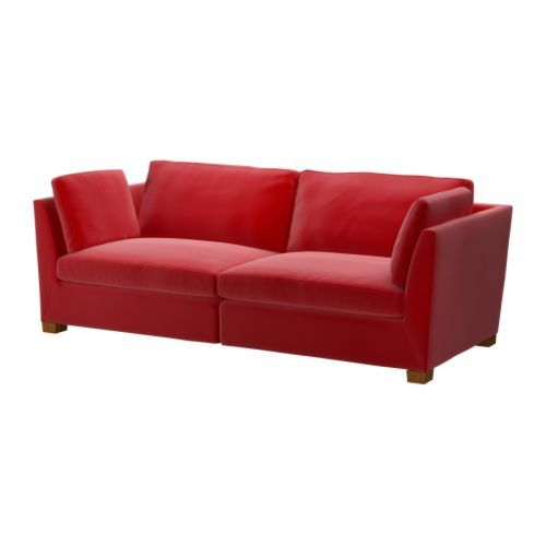 ikea stockholm 3 5er sofa sandbacka rot ikea die alte m nz. Black Bedroom Furniture Sets. Home Design Ideas