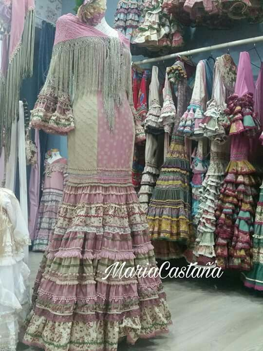 Maria Castaña Vestidos De Flamenca Moda Flamenca Vestido De Gitana