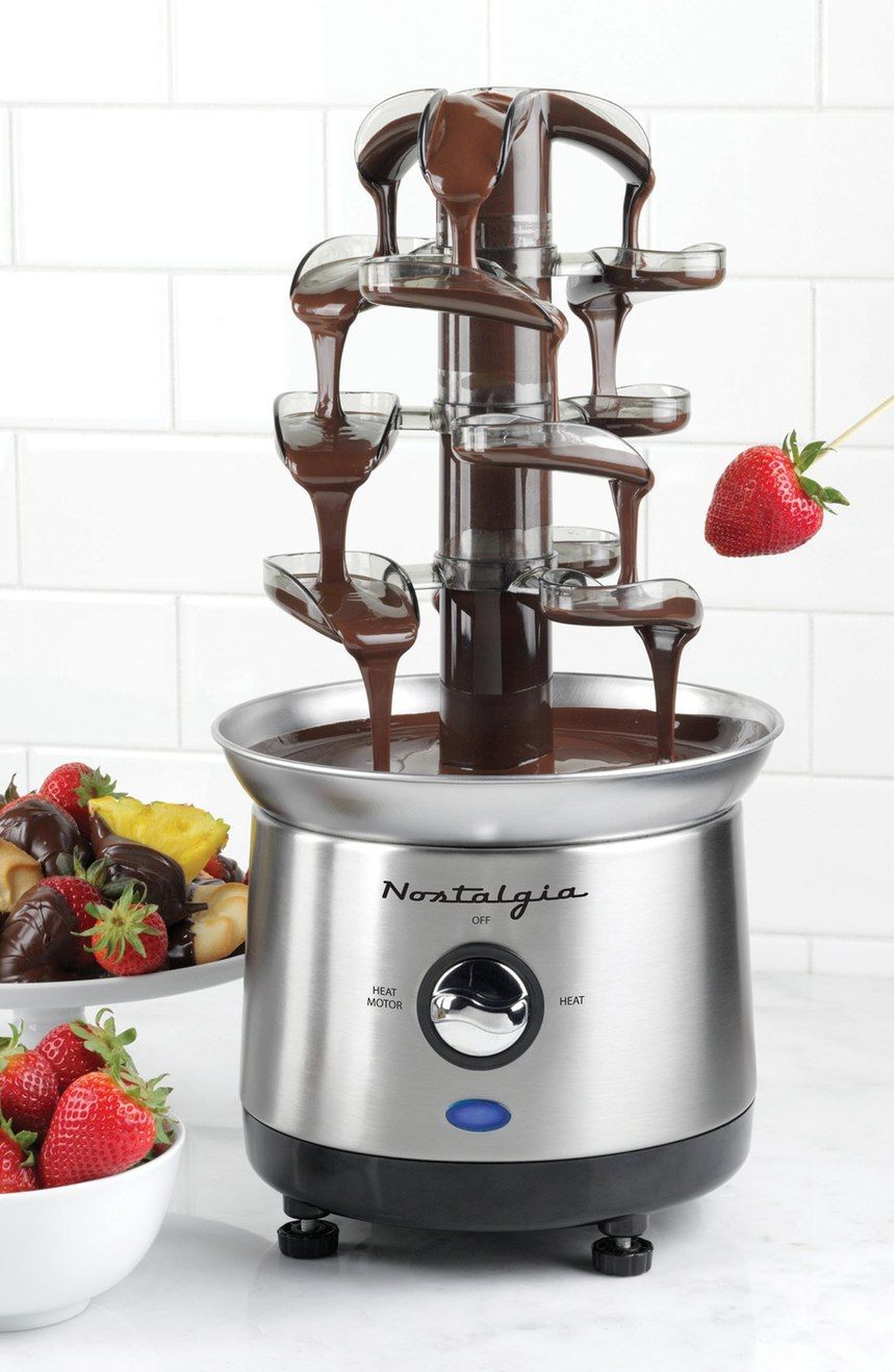Double tower chocolate fountain waterfall cascading dipping party stainlessteel