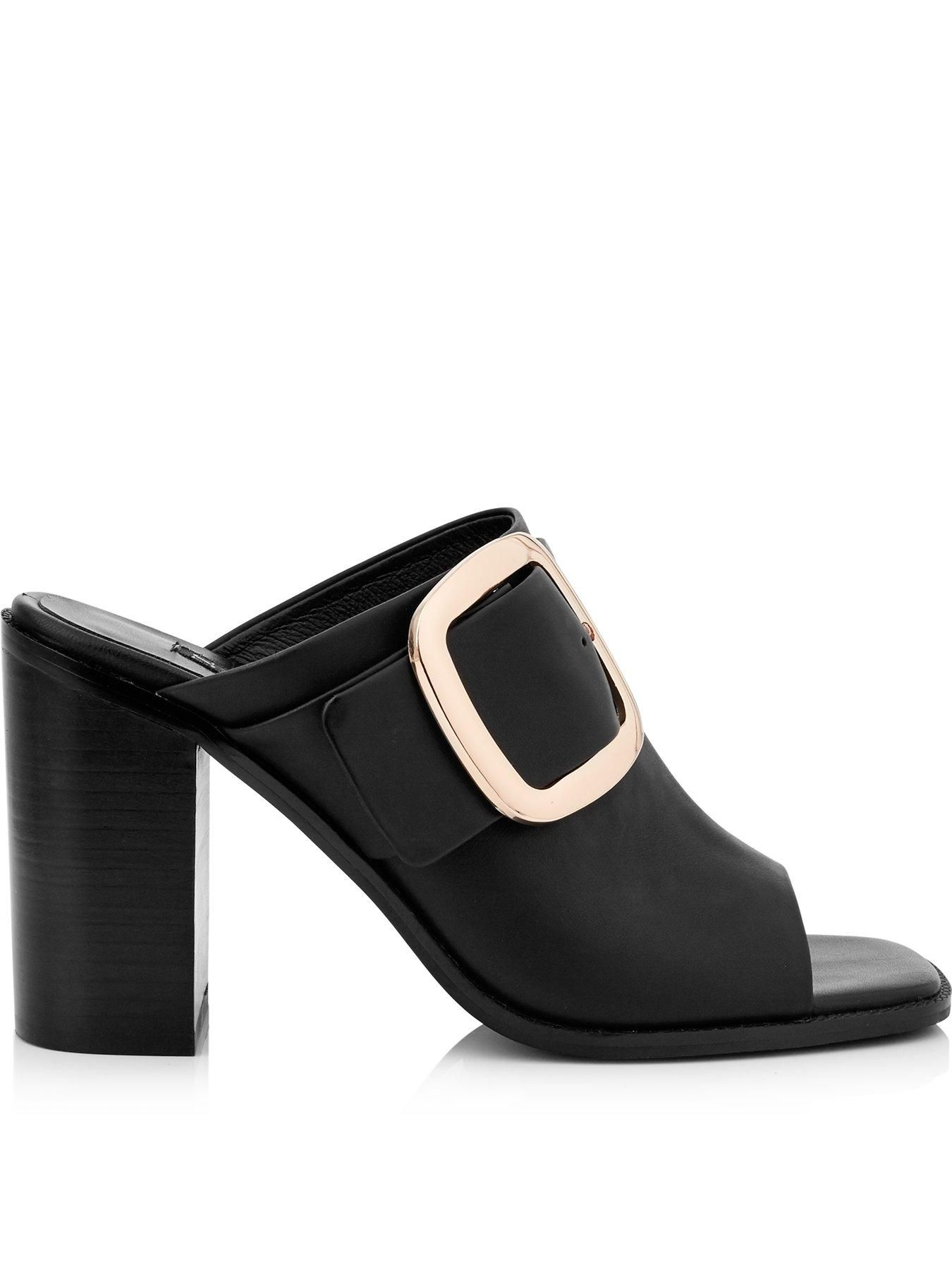 b4d85104c7cc1 Exclusive | www.very.co.uk | Just me :) | Black leather mules, Black ...