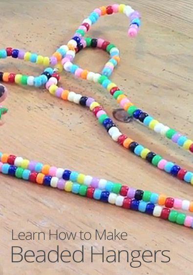 Diy Face Clothes Hangers Hanger Diy Hanger Diy Beads