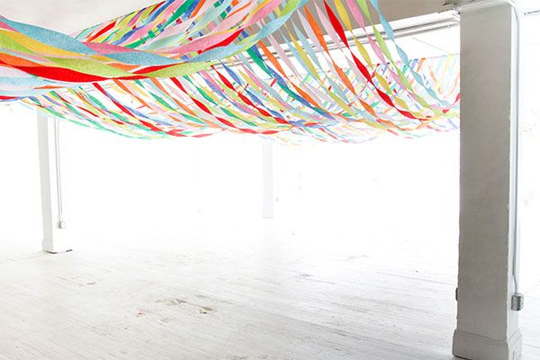 Decorating A Big Room On A Budget Diy Party Decorations Streamer Decorations Paper Streamers