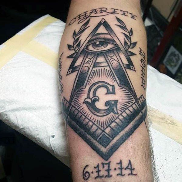 90 Masonic Tattoos For Men Freemasonry Ink Designs Tattoo Ideas