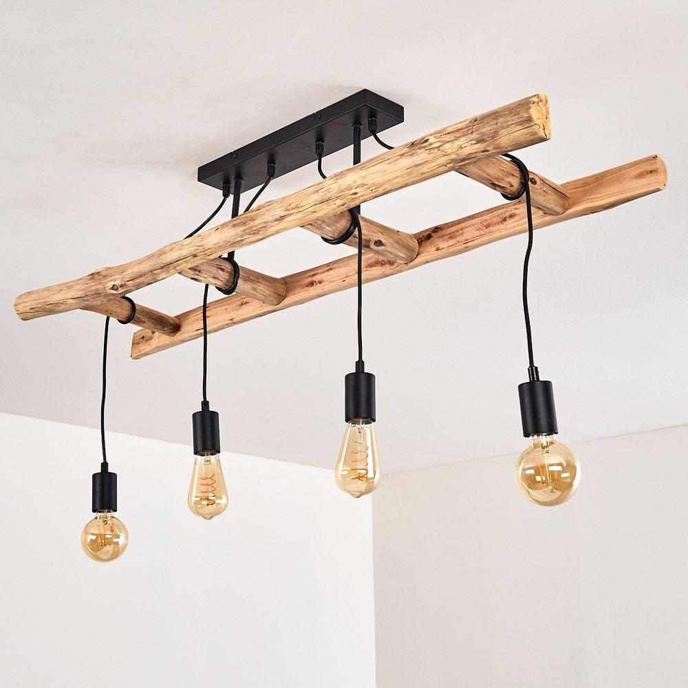 Holzleiter Lampe: Leiter Deko für das Ess- oder Wohnzimmer in 7