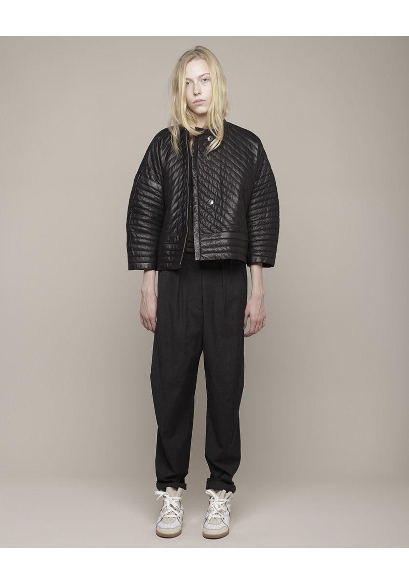 Isabel Marant Abelia Quilted Leather Jacket Fashion Cool Street Fashion Leather Jacket Shopping [ 1158 x 811 Pixel ]